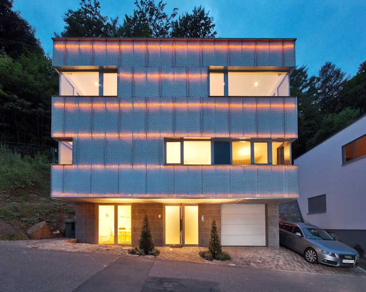 Reflecting Cube - House in Weinheim, Germany 모던스타일 주택 by Helwig Haus und Raum Planungs GmbH 모던