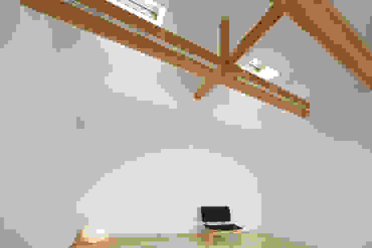 トンガリ壁の家 オリジナルデザインの 多目的室 の C lab.タカセモトヒデ建築設計 オリジナル