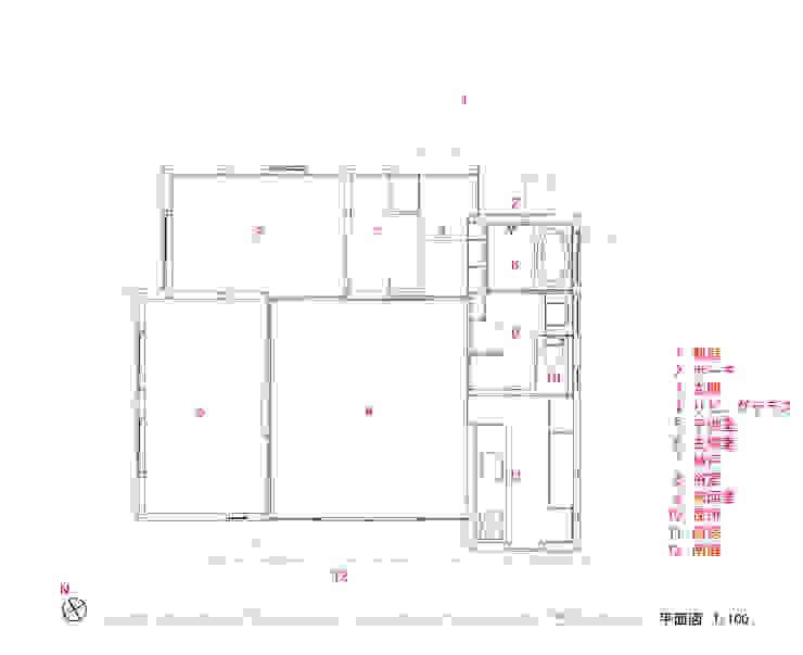 平面図: 240design・西尾通哲建築研究室が手掛けた折衷的なです。,オリジナル