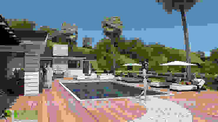 3D Residential Exterior Design Pool Side: modern  by Yantram Architectural Design Studio, Modern