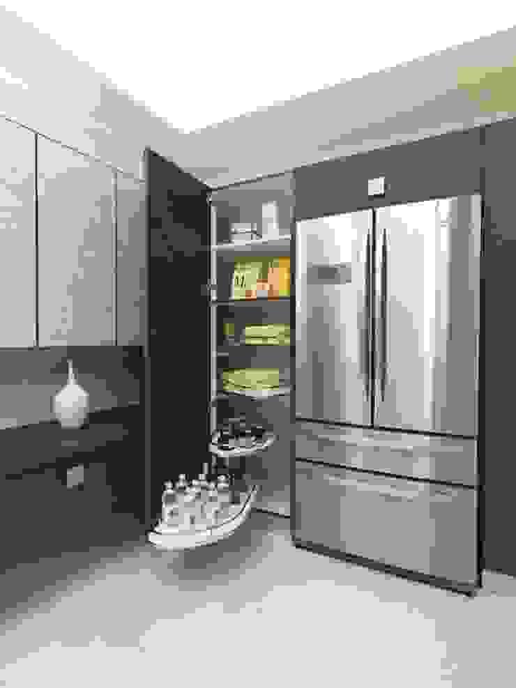 Futura Grigia: la cucina – living. di di donato cucine Moderno