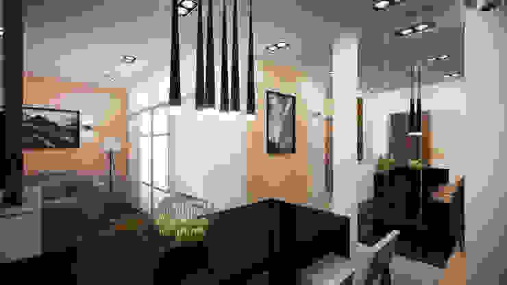 Проект однокомнатной квартиры – <q>Стиль современного города</q>. Кухня в стиле минимализм от дизайн-бюро ARTTUNDRA Минимализм