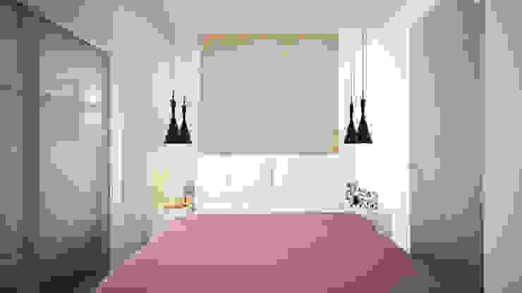 Проект однокомнатной квартиры – <q>Стиль современного города</q>. Спальня в стиле минимализм от дизайн-бюро ARTTUNDRA Минимализм
