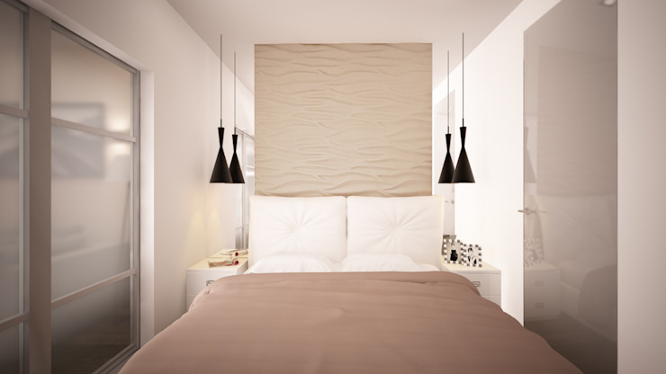 Quartos minimalistas por дизайн-бюро ARTTUNDRA Minimalista