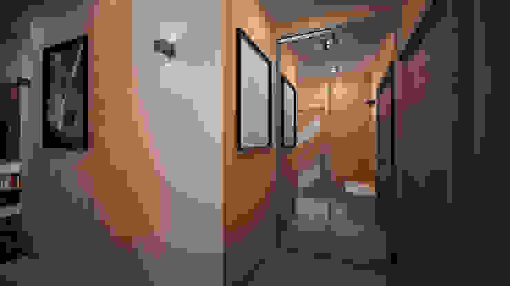 Проект однокомнатной квартиры – <q>Стиль современного города</q>. Коридор, прихожая и лестница в стиле минимализм от дизайн-бюро ARTTUNDRA Минимализм