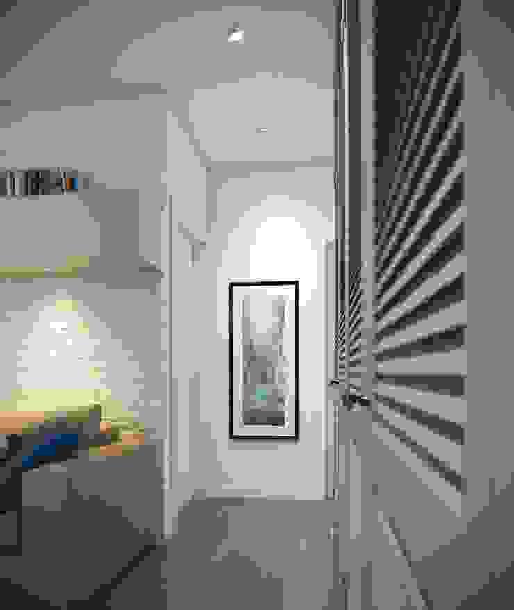 Massimos / cтудия дизайна интерьера Scandinavian style corridor, hallway& stairs