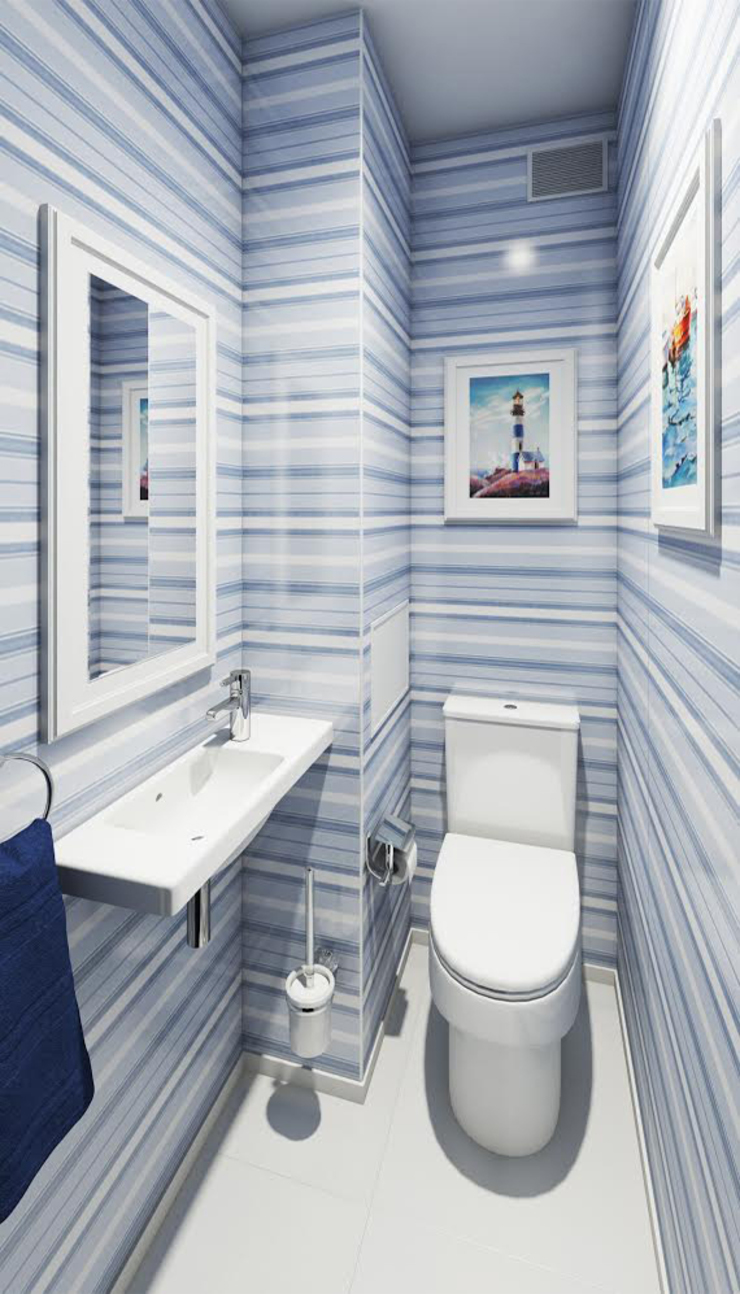 Massimos / cтудия дизайна интерьера Eclectic style bathroom