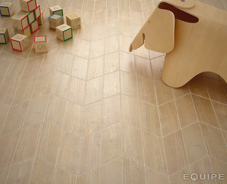 Hexawood Chevron Natural Left & Right 9x20,5. de Equipe Ceramicas Minimalista