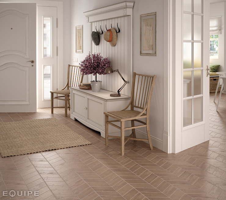 Hexawood Chevron Old Left & Right 9x20,5.:  de estilo colonial de Equipe Ceramicas, Colonial
