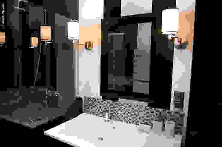 SALLE DE BAIN NOIR ET BLANC Salle de bain moderne par COULEUR DE VIE Moderne