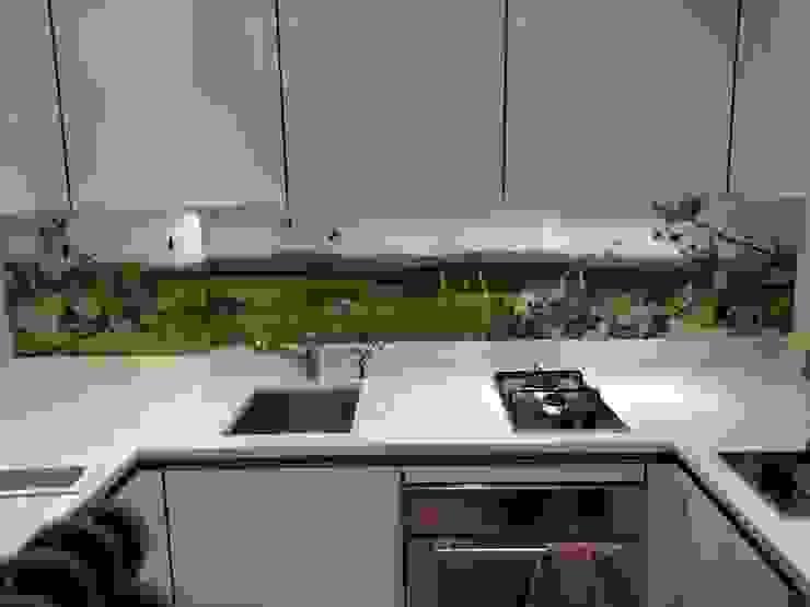 British countryside art splashback by Glartique Ltd