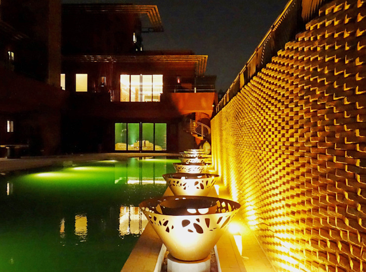 Riyadh House Moderne Pools von arqflores / architect Modern