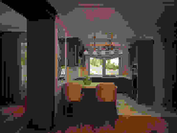Гостиная коттеджа в г. Домодедово в классическом стиле. Кухня в классическом стиле от дизайн-бюро ARTTUNDRA Классический