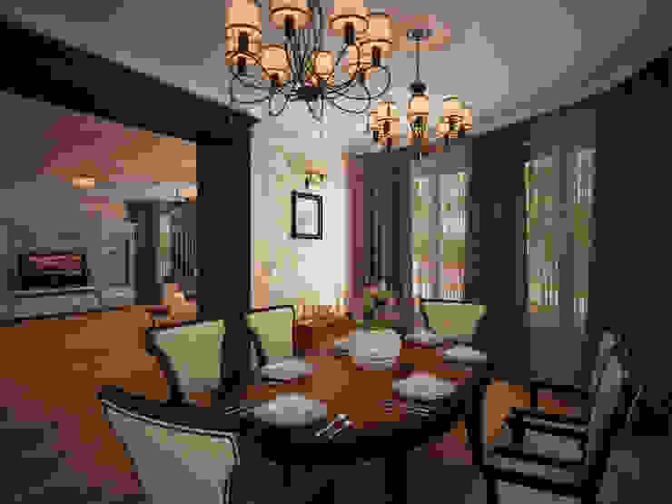 Гостиная коттеджа в г. Домодедово в классическом стиле. Гостиная в классическом стиле от дизайн-бюро ARTTUNDRA Классический