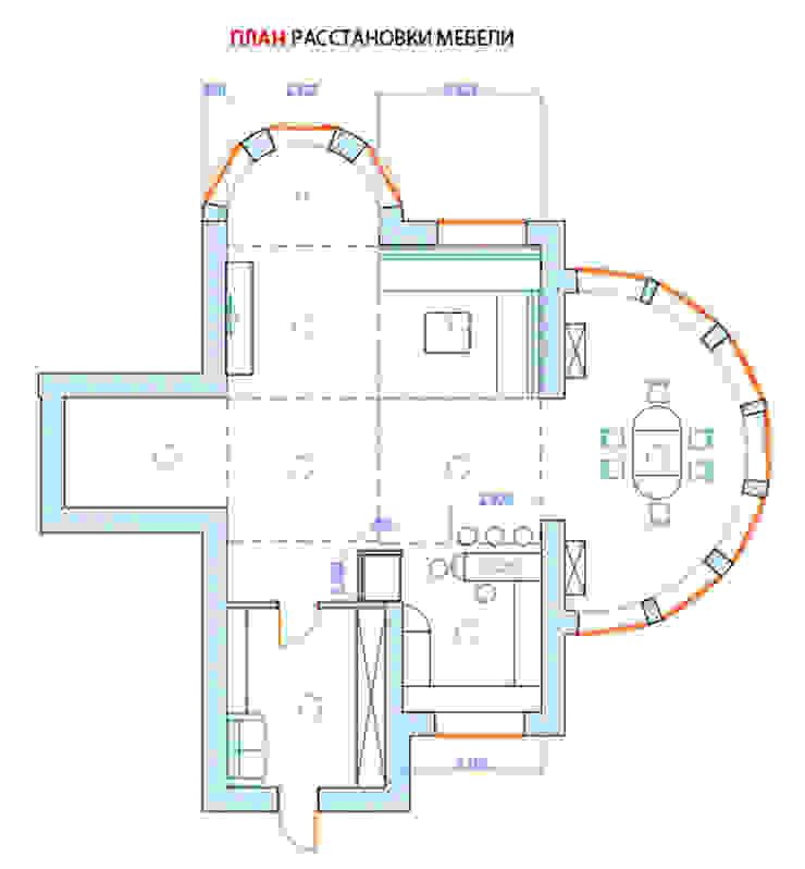 Гостиная коттеджа в г. Домодедово в классическом стиле. от дизайн-бюро ARTTUNDRA Классический