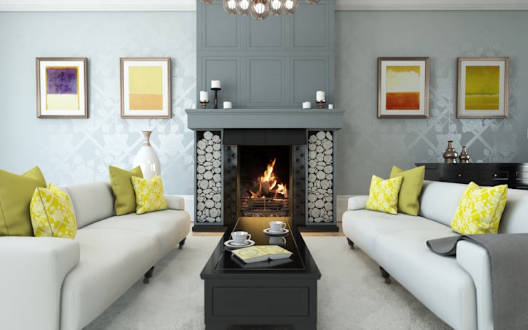 Rose Room Interior Design من Caxton Rhode كلاسيكي