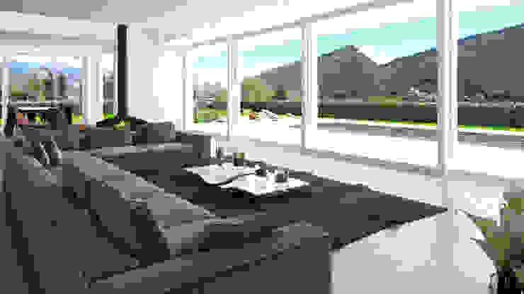 Living di Architecture - Interior Design - Rendering Moderno