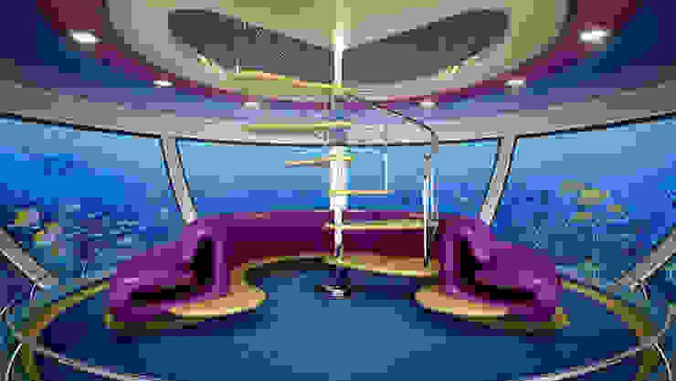 Amphibious Hotel moderni di Giancarlo Zema Design Group Moderno