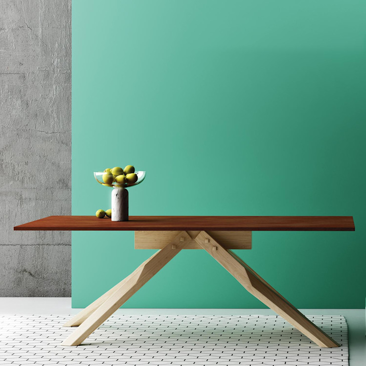 'Horizon' solid wood dining table by Imperial Line de My Italian Living Moderno