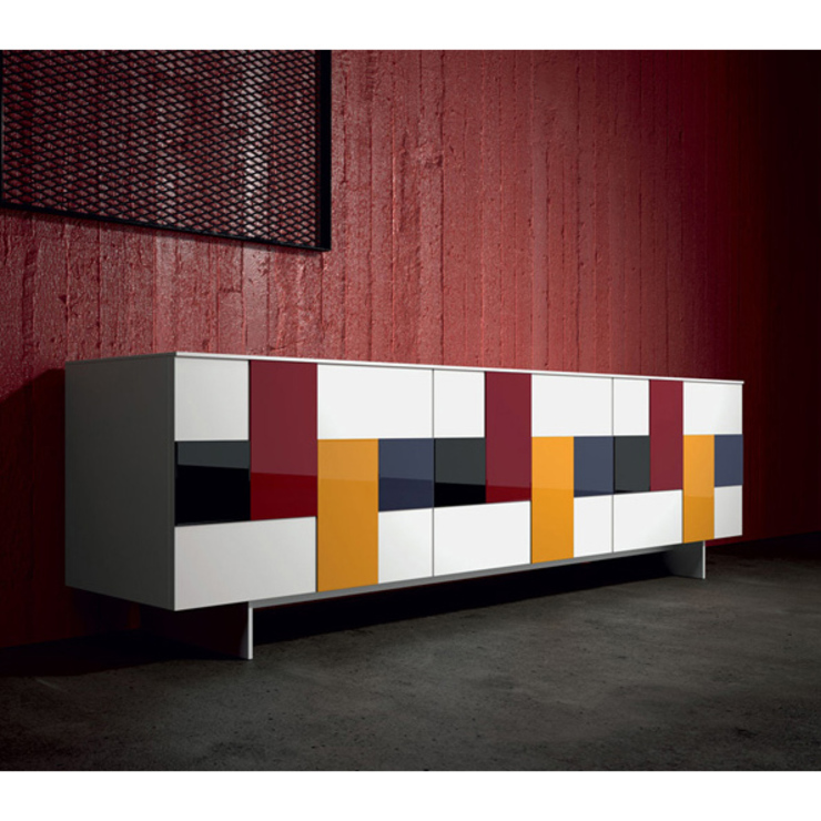 'Glass' mosaic door sideboard by Dall'Agnese di My Italian Living Moderno