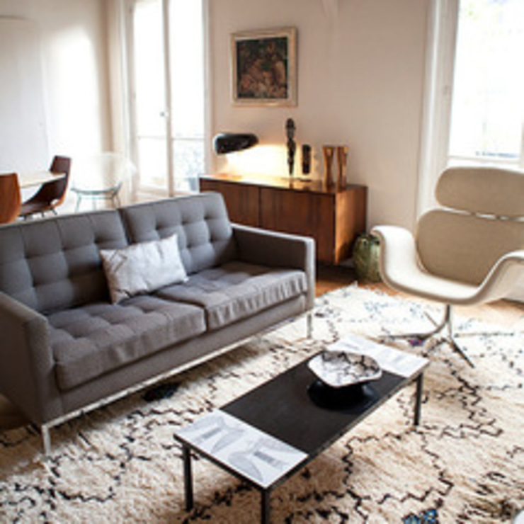 Appartement Batignolles Salon moderne par Priscilla Martin Moderne