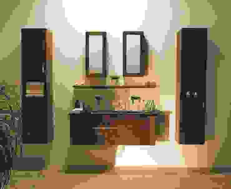 Stonearth - Walnut Venice set Stonearth Interiors Ltd Modern Bathroom