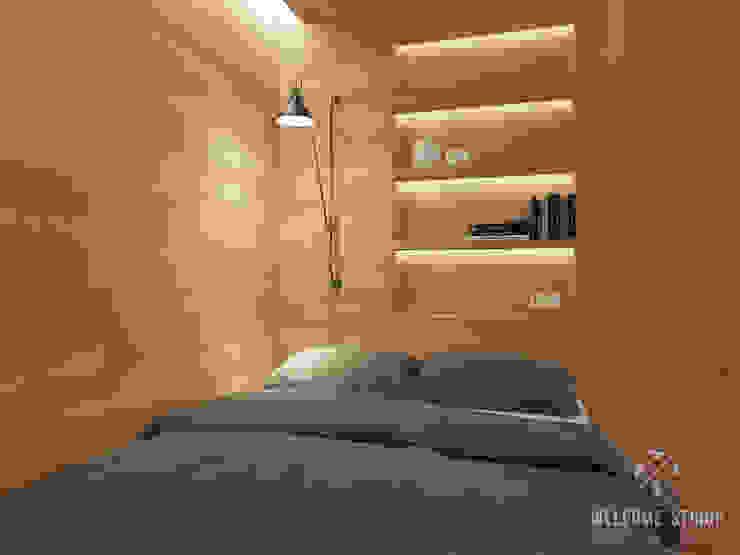 Общее пространство ракурс 3 Гостиная в стиле минимализм от Мастерская дизайна Welcome Studio Минимализм