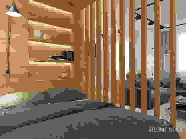Общее пространство ракурс 4 Гостиная в стиле минимализм от Мастерская дизайна Welcome Studio Минимализм