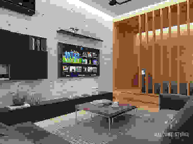Общее пространство ракурс 5 Гостиная в стиле минимализм от Мастерская дизайна Welcome Studio Минимализм