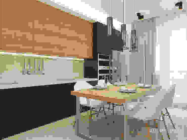 Общее пространство ракурс 7 Кухня в стиле минимализм от Мастерская дизайна Welcome Studio Минимализм