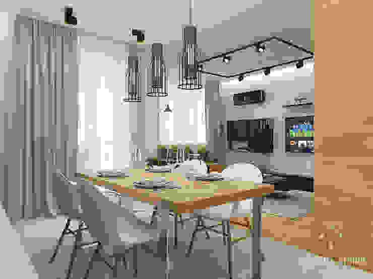 Общее пространство ракурс 9 Кухня в стиле минимализм от Мастерская дизайна Welcome Studio Минимализм