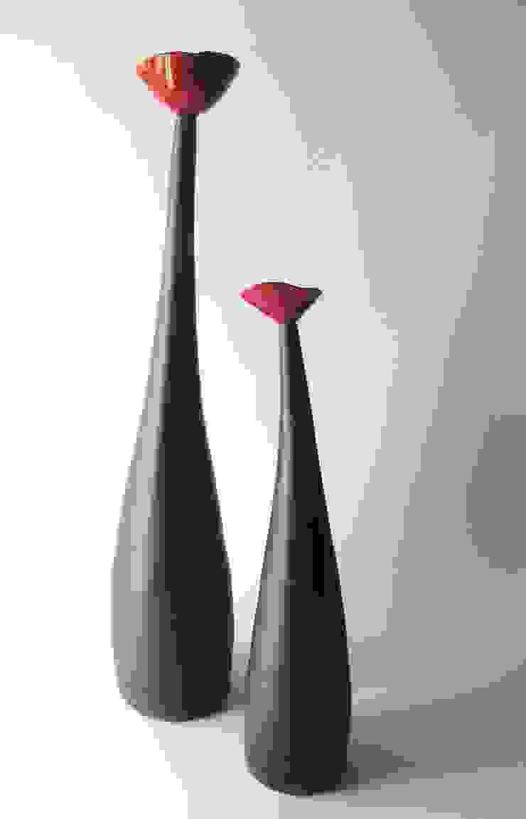 Soliflore coquelicot par poterie Kohut Minimaliste