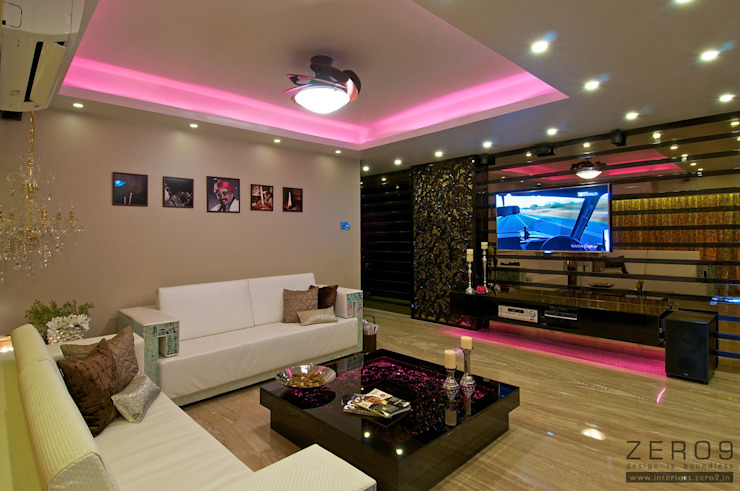 Colour Changing Furniture Modern Living Room by ZERO9 Modern
