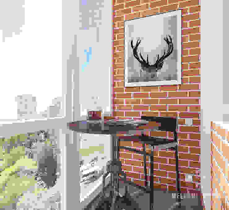 Лоджия ракурс 2 Балкон и терраса в стиле минимализм от Мастерская дизайна Welcome Studio Минимализм