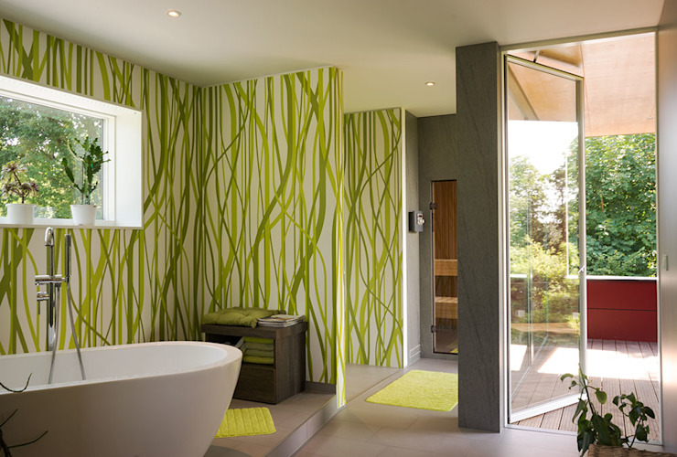 Baños de estilo moderno de MAX-Haus GmbH Moderno