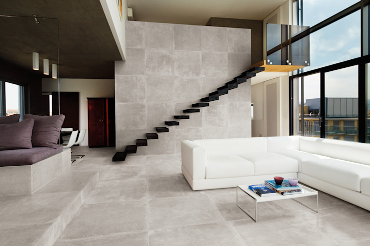 Petra Grey 80x80 Amb Living by Emilceramica Group