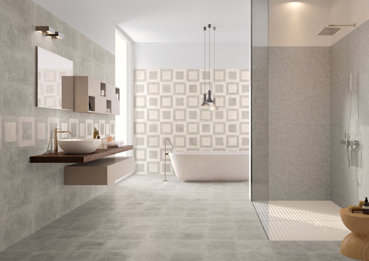 Petra Grey Dec. Quadri by Emilceramica Group