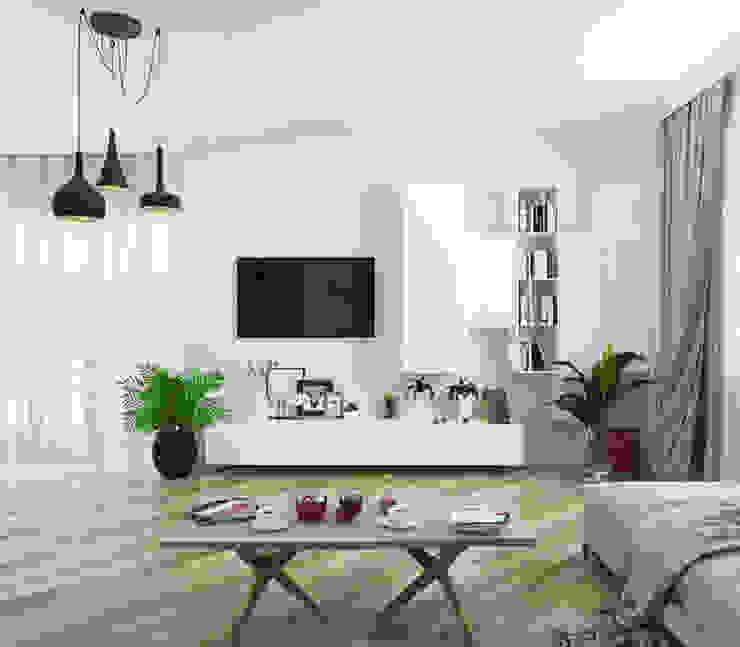 Living room Гостиная в стиле минимализм от AbcDesign Минимализм
