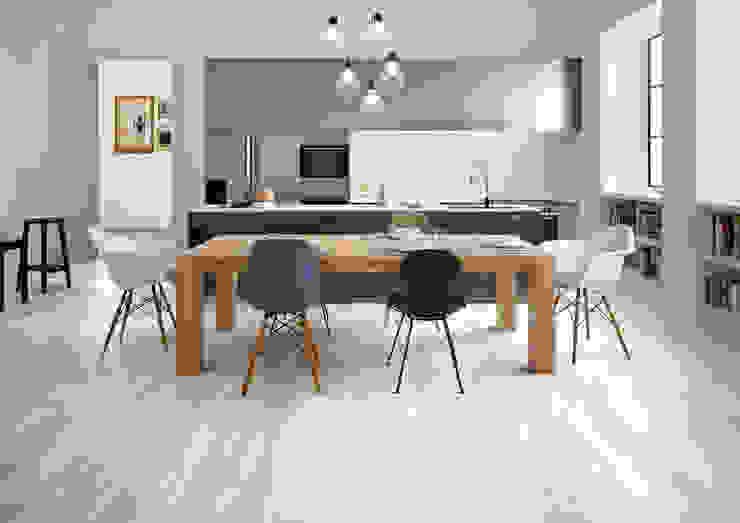 Millelegni White Toulipier Intarsio 30x30 Amb Cucina di Emilceramica Group