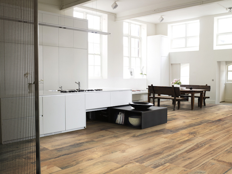 Millelegni Scottish Oak 30x120 Amb Cucina di Emilceramica Group