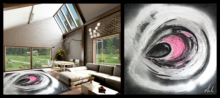 Ambre Smadja-Abstrait Maisons modernes par Yunikart Moderne
