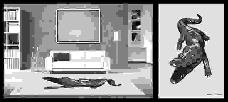 Richard Orlinski-Crocodile Maisons modernes par Yunikart Moderne