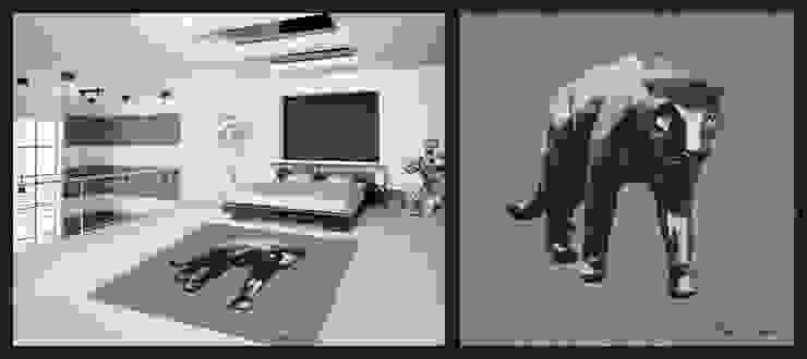 Richard Orlinski-Panthère Maisons modernes par Yunikart Moderne