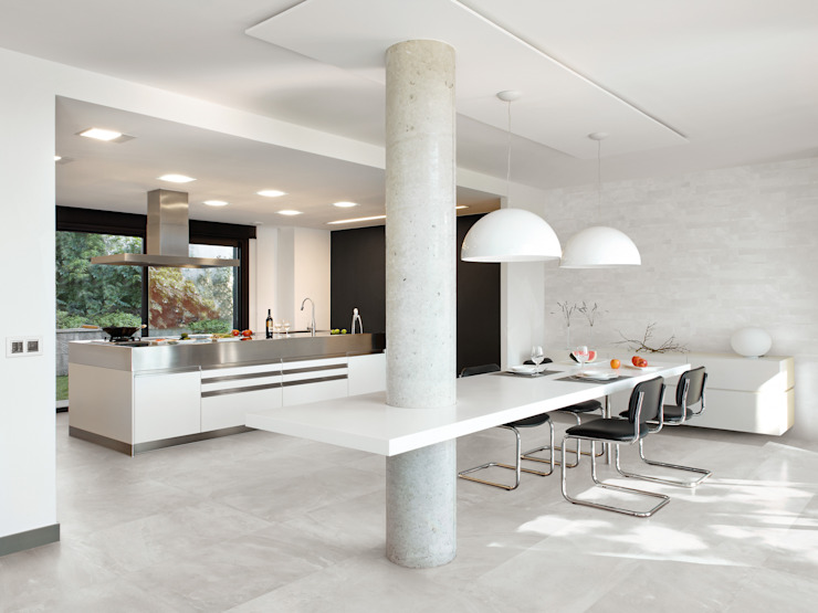 Architect Resin Berlin Grey 40x80 Amb Dining di Emilceramica Group