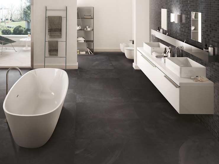 Architect Resin Bruxelles Black 40x80 Amb Bagno di Emilceramica Group