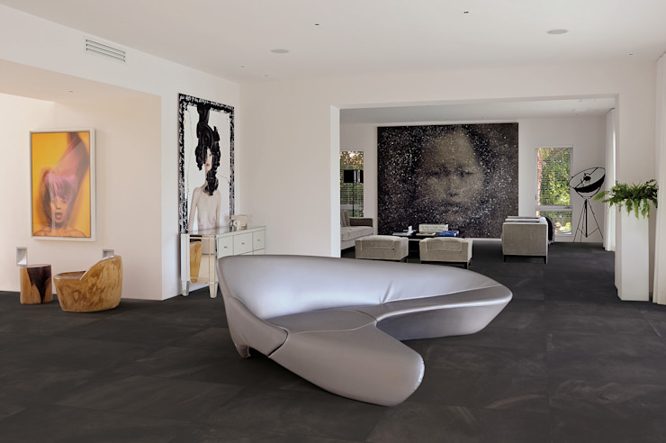 Architect Resin Bruxelles Black 40x80 Amb Living di Emilceramica Group