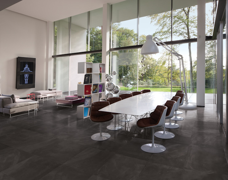 Architect Resin Bruxelles Black 60x60 Amb Living di Emilceramica Group
