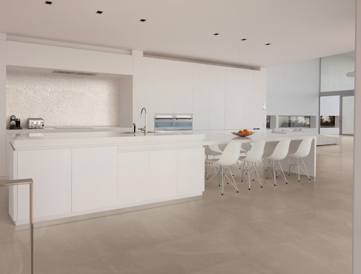 Architect Resin Hong Kong Taupe 60x60 Amb Cucina di Emilceramica Group
