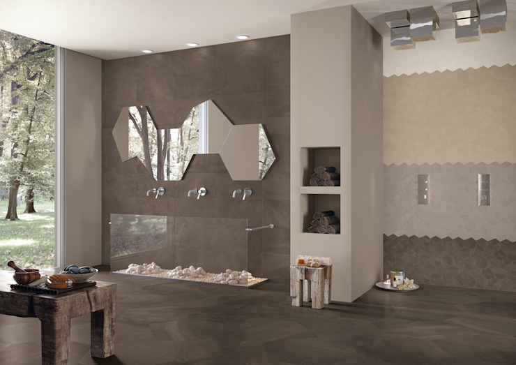 Architect Resin Miami Brown Design Maxi 30x60 Design Mini 4 colori di Emilceramica Group