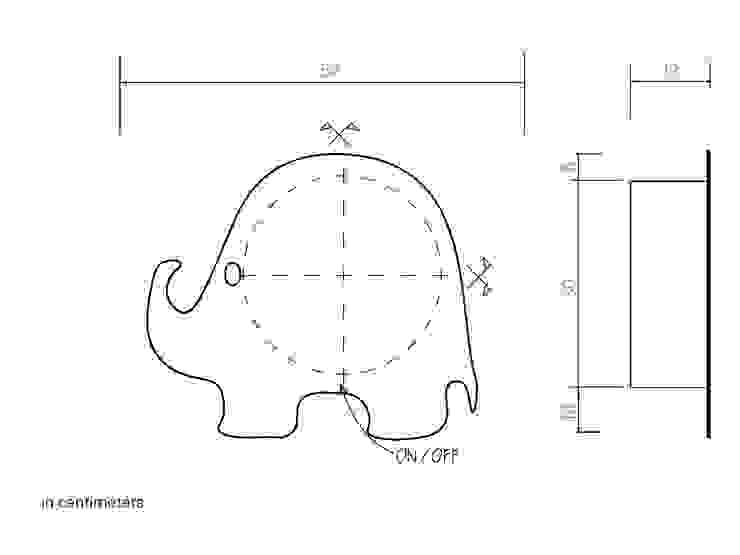Elephant - electric towel warmer di MG12 Eclettico Alluminio / Zinco